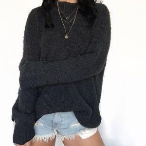 American Eagle Mock Neck Knit Sweater